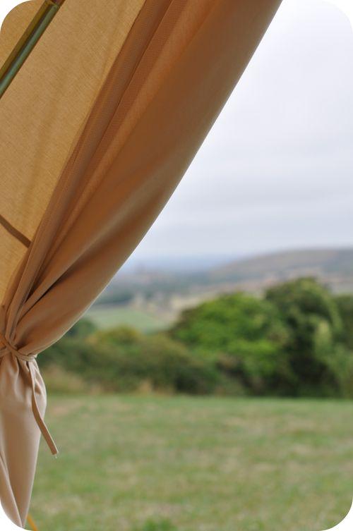 Bell tent door