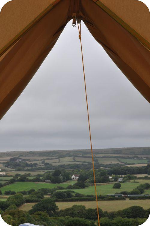 Bell tent door frame