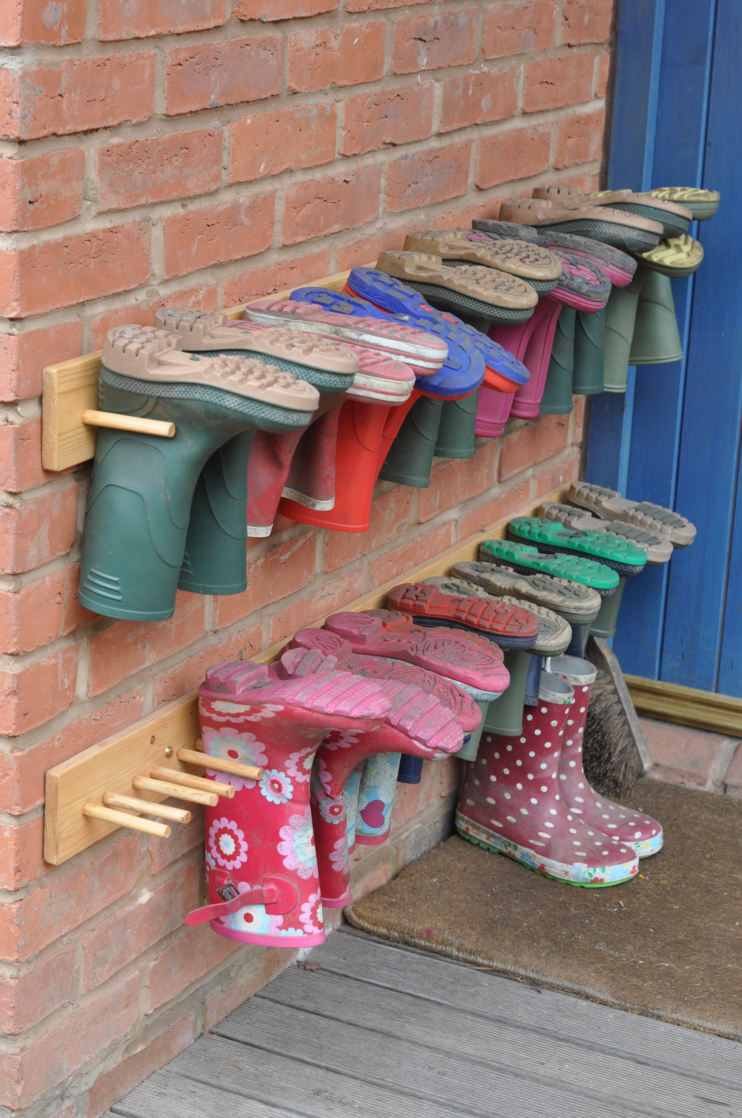 Ideas for Boot Shoe Rack in Garage