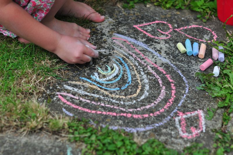 Chalking outdoors