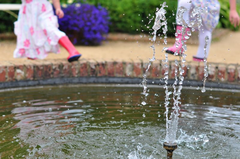Water fountain Mottisfont National Trust