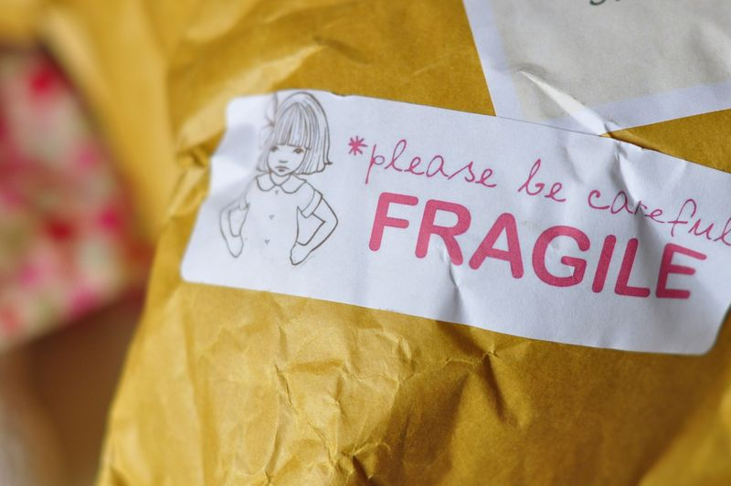 Belle and Boo Fragile sticker