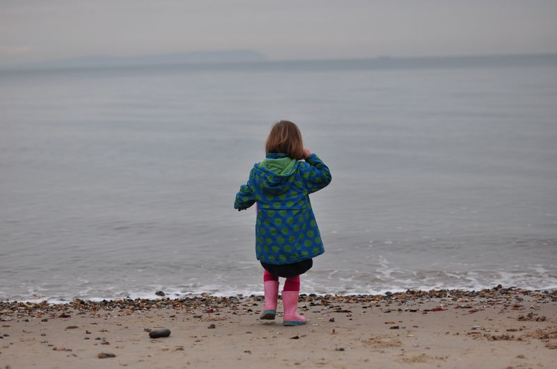 Little L looking out to sea