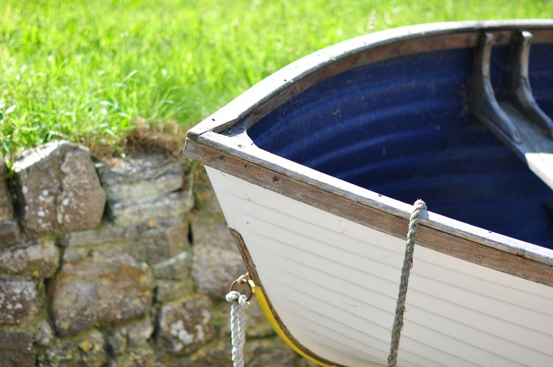 Wooden boat Lulworth Cove