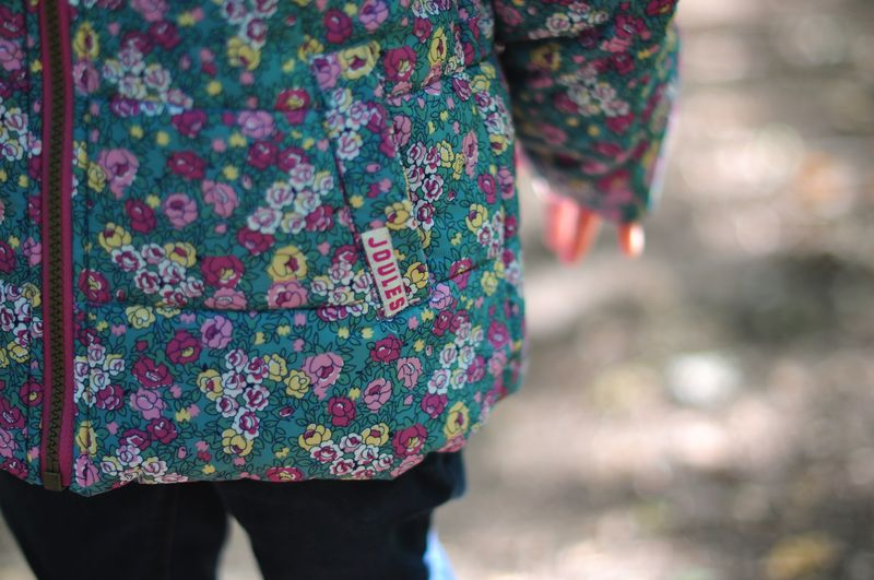 Joules Girls Padded Showerproof Coat Ditsy Floral