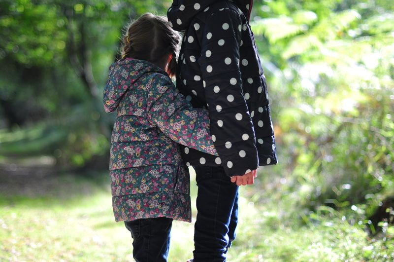 Joule Padded Showerproof Jacket Ditsy Floral and Navy